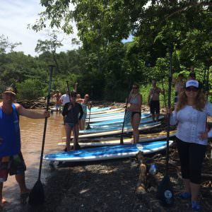 Nosara SUP Tour Group on the beach