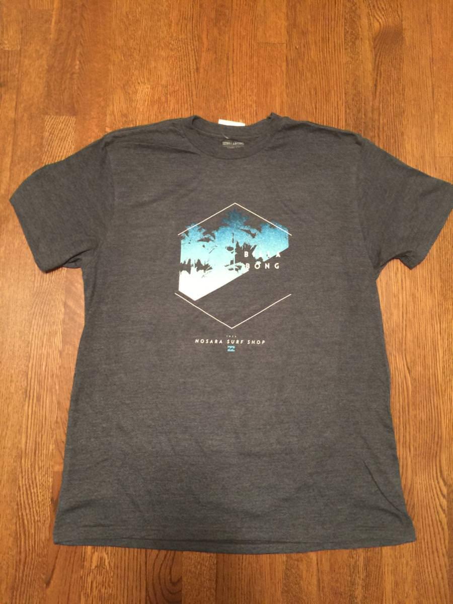 Billabong t shirt gray nosara surf shop costa rica 39 s for Surf shop tee shirts